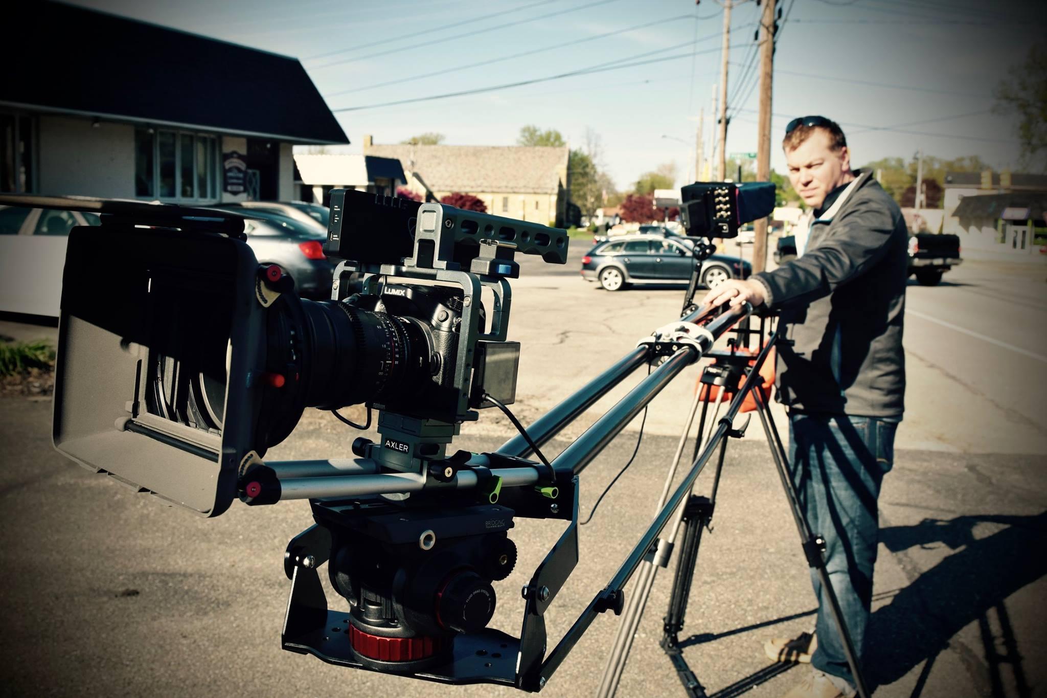 Jamey stewart working a camera crane