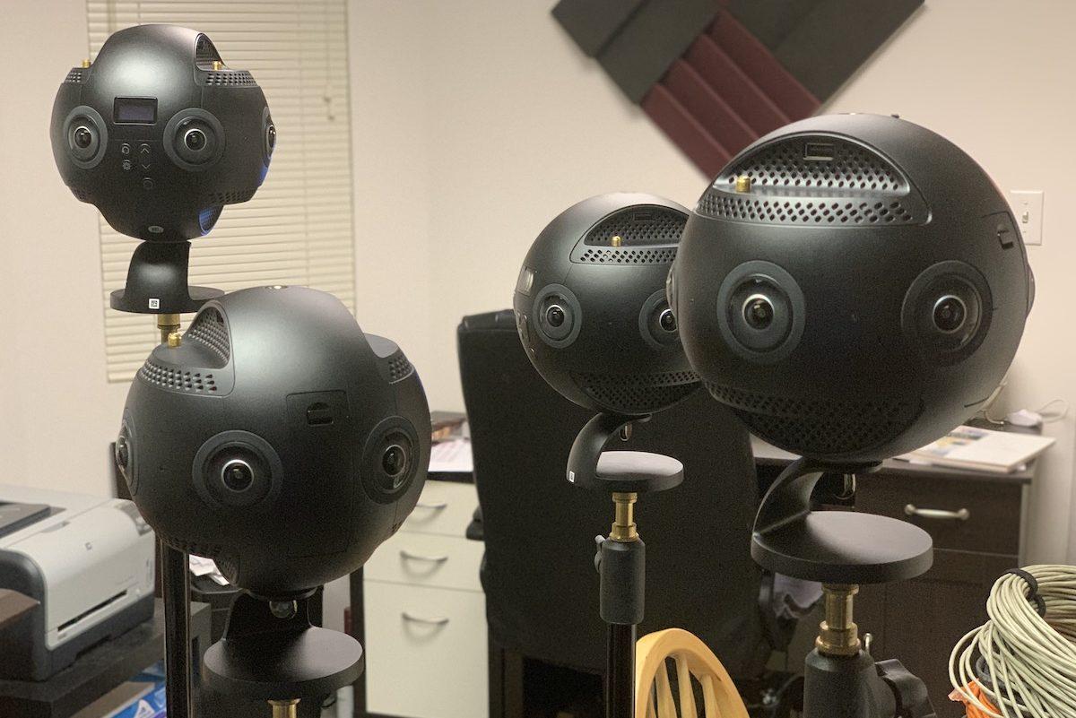 Four 360 cameras