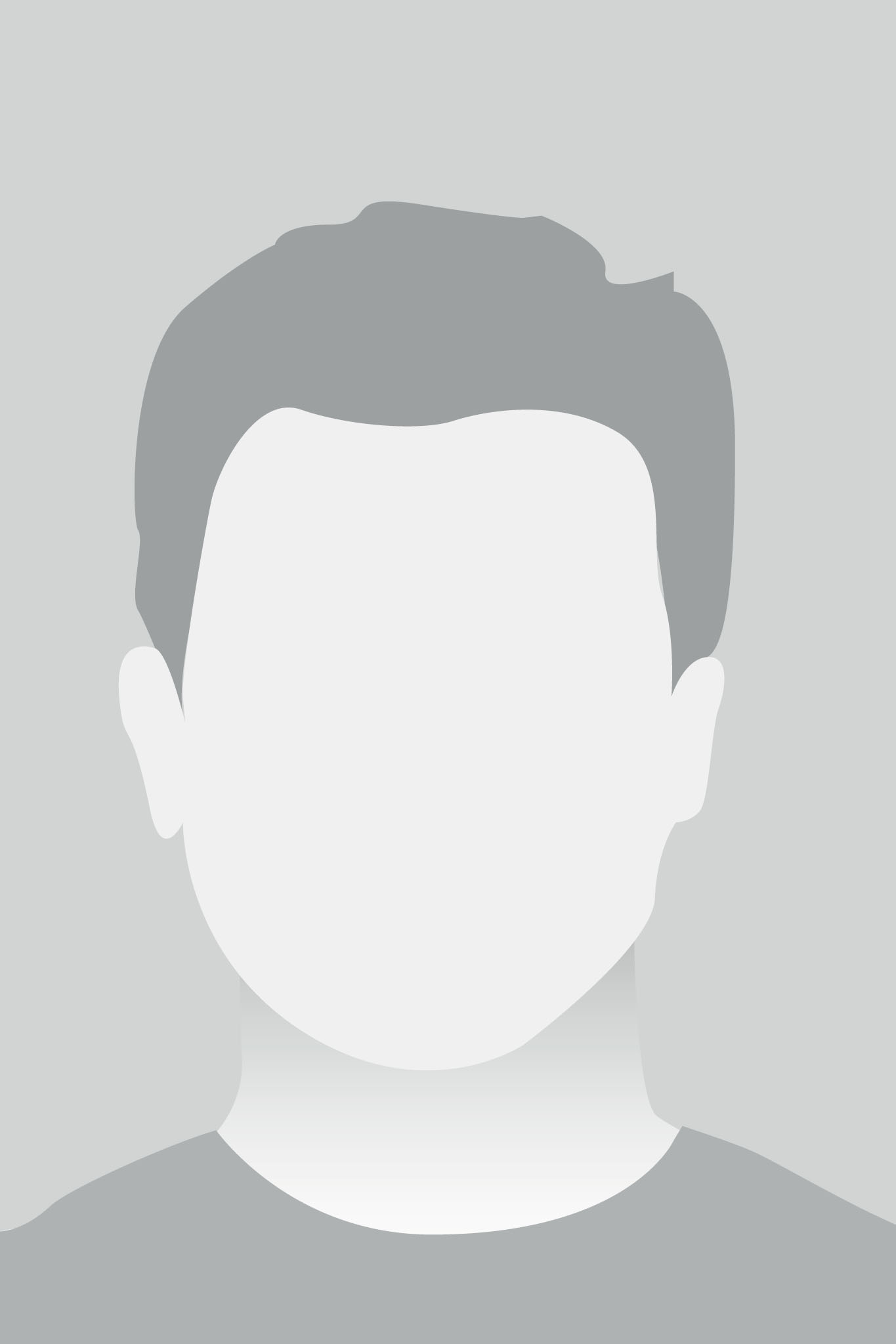 Default Placeholder Avatar Profile on Gray Background for a male
